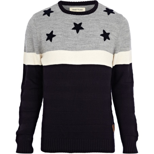 Navy Stars and Stripes Jumper