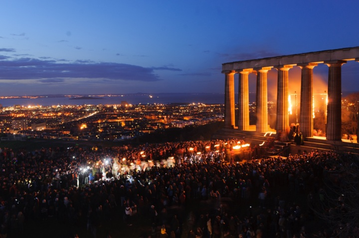 Beltane 2013 Acropolis Sequence View from the Nelson Monument